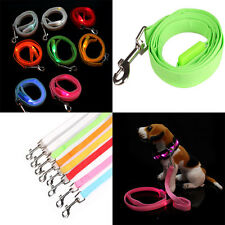 LED Flashing Light Dog Harness Pet Rope Belt Safety Glow Leash Lead Glow 8 Color