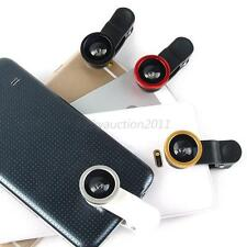 Fisheye+Wide Angle+Marco Lens Camera Kit w Clip For iPhone 6 6P 4S 5 5S 5C L74