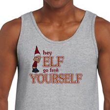 Hey Elf Go Fxxk Yourself T-shirt Rude College Dirty Holiday Humor Men's Tank Top