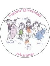 CREATE YOUR OWN IMAGE EDIBLE CAKE & CUPCAKE TOPPERS Icing or Wafer!!