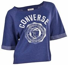 Converse Women's All Star Vintage Athletic Crop Lightweight Sweatshirt-Blue