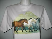 Flying Colors Horses, Western, Cowgirl, White T-shirt S, M, L or XL