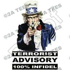 """100% INFIDEL"" T-Shirt - ISLAM MOLON LABE  2nd Amendment  PROTEST AR15 AR10 AK47"