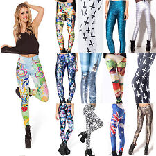 2014 Women Funny 3D Graphic Print Leggings Sexy Pants Yoga Gym Slim Fit Trousers