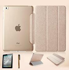 Ultra Slim Magnetic Leather Smart Cover Hard Back Case for iPad Air / Mini + Pen