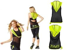 Zumba Oh my Hoodness Mesh Hoodie Top  Black or Blue RARE limited quantities! New