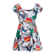 Marvel Comics Characters All-Over Licensed NWT Junior's Skater Dress -