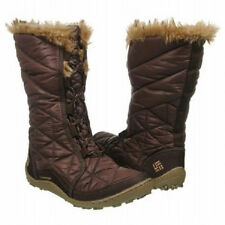 COLUMBIA WOMENS WATERPROOF INSULATED WINTER SNOW BOOTS~BROWN SZ 6,7.5,8,9,10