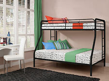 NEW Twin Over Full Size Bunk Bed Metal Bunkbeds Beds Childrens Dorm College NIB