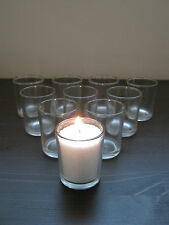 Beautiful Clear Glass Tea Light Candle Holders Bulk Quantity Wedding Party New,