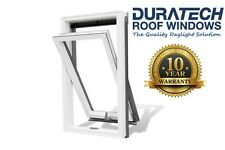 Velux/Duratech Centre Pivot Roof Window 550 x 980mm White uPVC with Flashing