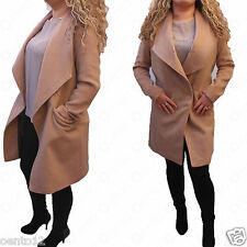 Genuine Next Celebrity Trendy Fashion Waterfall Camel Longline Coat Jacket
