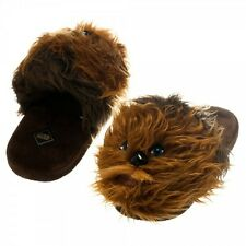 Star Wars Chewbacca Chewie Licensed NWT Adult Slide-on Plush Lounge Slippers