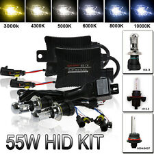 55W HID Bi-Xenon Conversion Headlight KIT Bulbs H4-3 9004/7 H13 Hi/Low Dual Beam