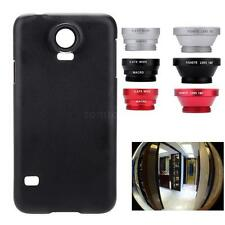 3in1 Fisheye+Wide Angle+ Macro Phone Camera Lens with Case for Samsung Galaxy S5