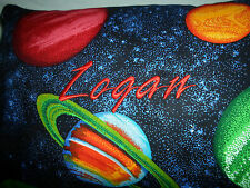 New Hand Made Crafted Cotton Personalized Pillow 10x15 Solar System Planets
