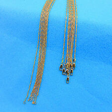 """1P 16-30"""" Wholesale Jewelry 18K Gold Filled """"Water Wave"""" Chain Necklace Pendants"""