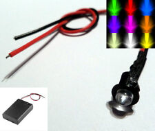 Flashing 3mm/5mm LED With Battery Box & Switch AA/AAA/PP3 - Scalextric/Model