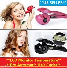 New Pro Automatic Hair Curler Iron Curling Roller Machine w/ LCD Screen Display