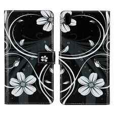 Fashion Printed Flower allet PU Leather Case Cover For Various Mobile Phones