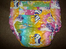 Dependeco All In One cloth adult baby diaper S/M/L/XL  ( my little pony rainbow)