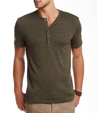 JOHN VARVATOS STAR USA - more sizes - 5 Button Army HENLEY - $90 msrp - NWT