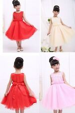 Hot Girl Formal dress Pageant Wedding Evening Party Dancing 2-7T top grade gowns