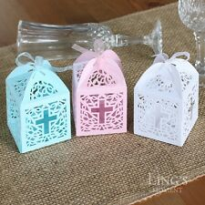 Cross Pattern Laser Cut Gift Candy Favor Boxes Wedding Party Shower Decoration