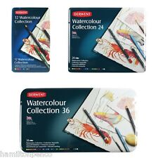 DERWENT WATERCOLOUR COLLECTION TIN of water-soluble, mixed media - various sizes