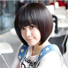 New Fashion Sexy Women Cosplay Party Full Short Wigs Straight BOB Wig Hair+Cap