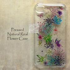 BMC Butterfly Real Pressed Flower Bling Hard Skin Case Cover For Samsung iPhone