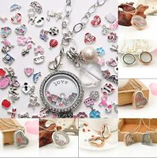 Wholesale Living Memory Locket Charms Necklace Costume Floating Fashion Jewelry