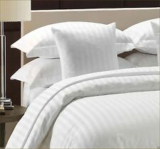 300 Thread Count Satin Stripe 100% Egyptian Cotton Duvet Cover Sets All Sizes