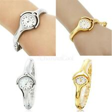 Fashion Womens Ladies Round Quartz Analog Dress Bracelet Wrist Watch Gold Silver