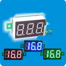 DC 0-100V 3~30V Digital LED Car Voltmeter Gauge Voltage Panel Meter 2/3 Wire Pro