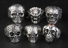 5PS Personality skull Domineering man rock Stainless steel ring punk accessories