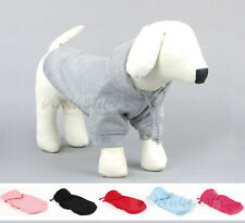 Fashion Dog Puppy Clothes Hoodie Sweater Costumes Coat Soft Cotton Cute