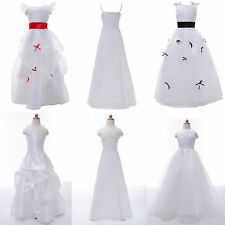 Hot CHEAP~For Age 2~12 Flower Girls Wedding Gown Prom Bridesmaid Formal Dresses