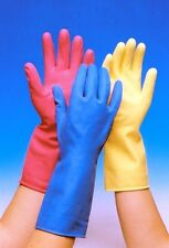 RUBBER GLOVES WASHING UP CLEANING PINK YELLOW BLUE SMALL MEDIUM LARGE