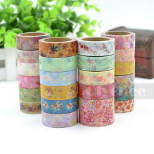 1X 2015 New Cute Pattern Washi Tape DIY Decor Sticky Stationery Adhesive Sticker