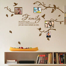 Family Tree Bird Photo Frame Nursery Art Wall Stickers Quotes Wall Decals Decos