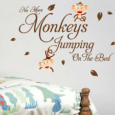 Monkey Bedroom Children Kids Nursery Wall Quotes Stickers Wall Decals Wall Arts