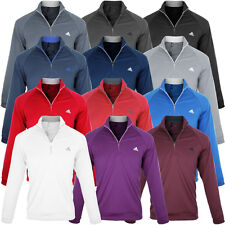 Adidas Golf 2014 Mens ClimaLite 1/4 Zip Contrast Layering LC Jumper Pullover Top