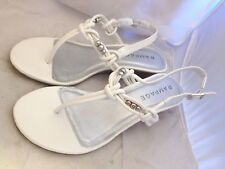 Rampage Cairo Womens White Wedge Sandals Shoes New in Box