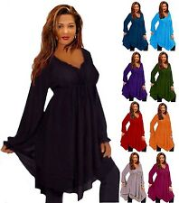 @G530 BLOUSE TUNIC TOP LAYERED EMPIRE S M L XL 1X 2X 3X 4X 5X 6X MADE TO ORDER