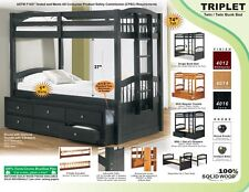 Triplet Bunk Bed with optional Trundle or Drawers