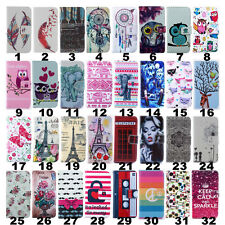 Flip Colors Pattern Wallet Stand Leather Cover Case For Moto Sony Nokia Huawei
