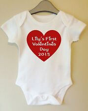 MY FIRST VALENTINES DAY PERSONALISED WITH YOUR BABIES NAME BODY GROW SUIT VEST