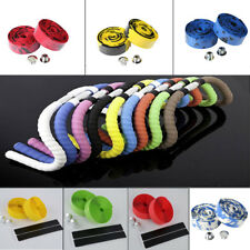 Bicycle Road Bike Cycling Handlebar Cork Tape Handlebar Wrap+2Plugs+2Adhesive