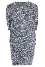 ex FRENCH CONNECTION Tunic Dress - French Connection Grey Print Dress